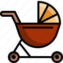 baby, carriage, kid, stroller, toddler icon
