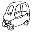 car, child, infant, kid, push, toy icon