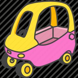 car, child, infant, kid, push, toy icon