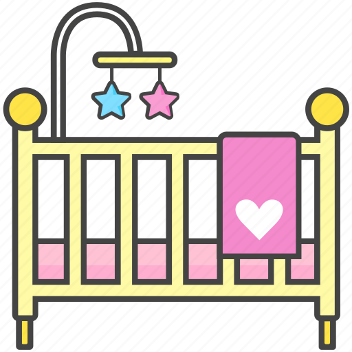 baby, bassinet, bed, crib, newborn, toddler icon