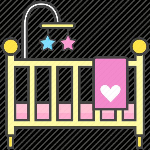Baby, bassinet, bed, crib, newborn, toddler icon - Download on Iconfinder