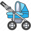 infant, buggy, carriage, baby, pram, stroller icon