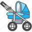 baby, buggy, carriage, infant, pram, stroller icon