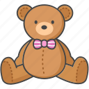 baby, bear, infant, soft, stuffed, teddy, toy icon