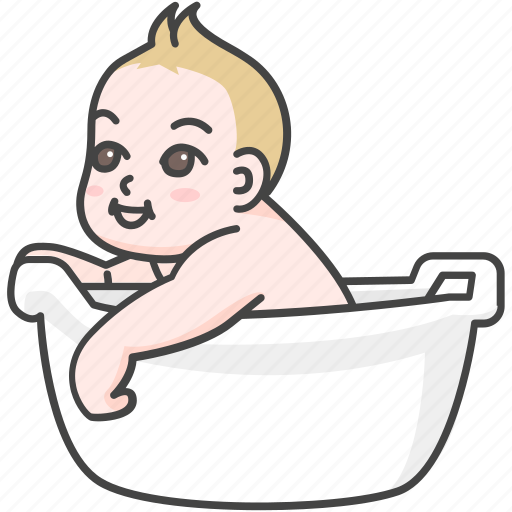 baby, bath, child, clean, infant, time, tub icon