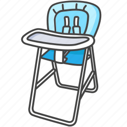 baby, chair, child, high, highchair, infant, product icon