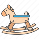 baby, child, horse, infant, kid, rocking, toy icon