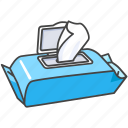 baby, child, cleaning, tissues, water, wet, wipes icon