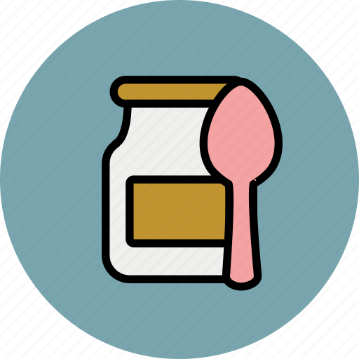 baby, breakfast, dessert, food, jar, spoon icon