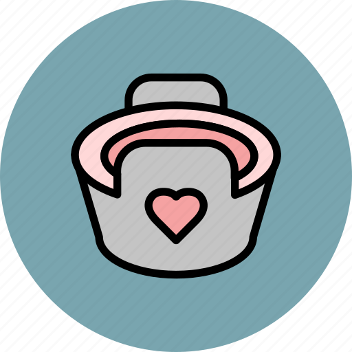 baby, heart, infant, potty, shaped icon