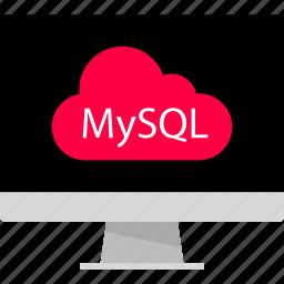 back, cloud, data, development, end, server, web icon