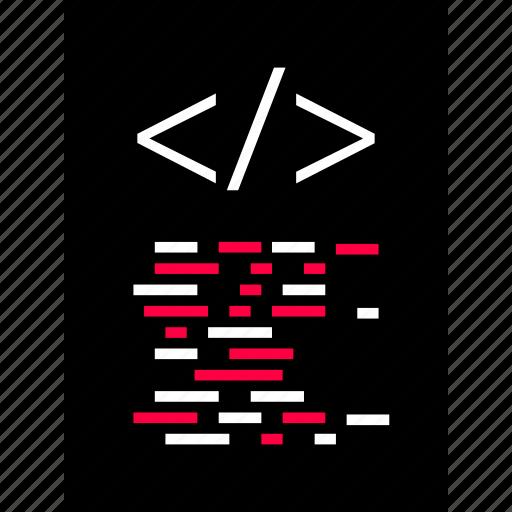 back, code, development, document, end, script, web icon