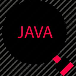 back, code, development, end, java, look, web icon