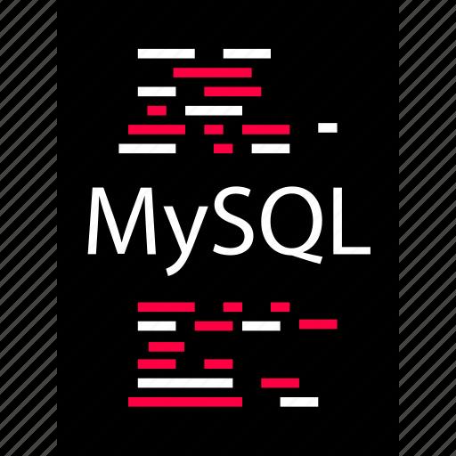 back, development, end, mysql, web icon
