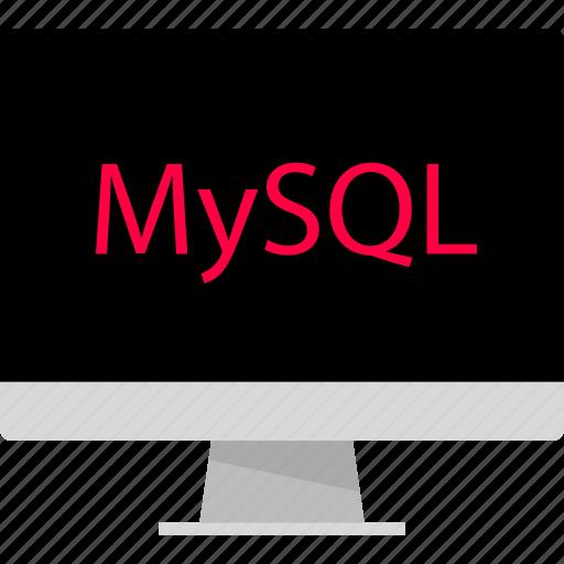 back, computer, development, end, mysql, web icon