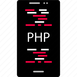 app, back, cell, development, end, php, web icon