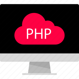 back, cloud, development, end, php, web icon