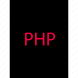 back, development, document, end, php, web icon