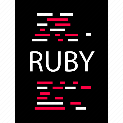 back, development, end, ruby, script, web icon