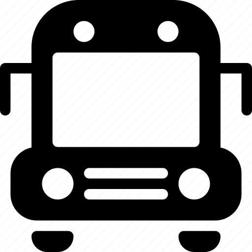 bus, school, transport, travel, vehicle icon