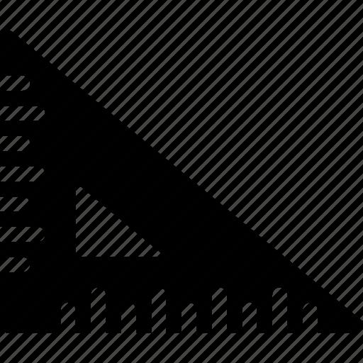 geometry, measure, ruler, tool, triangle icon