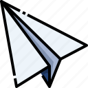 airplane, message, origami, paper icon