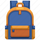 backpack, bag, education, school icon
