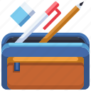 case, education, office, pencil, tool