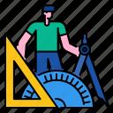 equipment, mat, geometry, education, school, mathematics icon