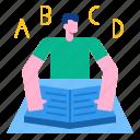 abc, alphabet, book, font, typography