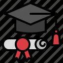 certificate, diploma, graduate, knowledge, school icon