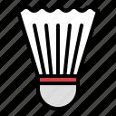 badminton, birdie, school, shuttlecock, sport icon