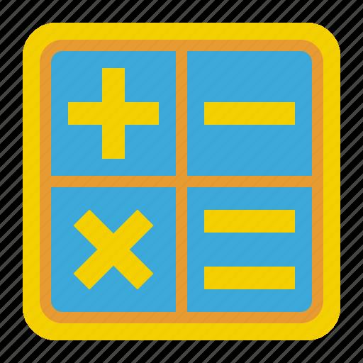 calculation, math, mathematics, minus, multiply, plus, school icon