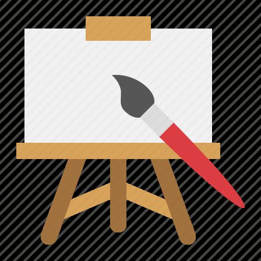 art, canvas, drawing, paintbrush, school icon