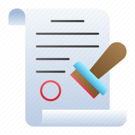 approve, document, paper, school, stamp icon