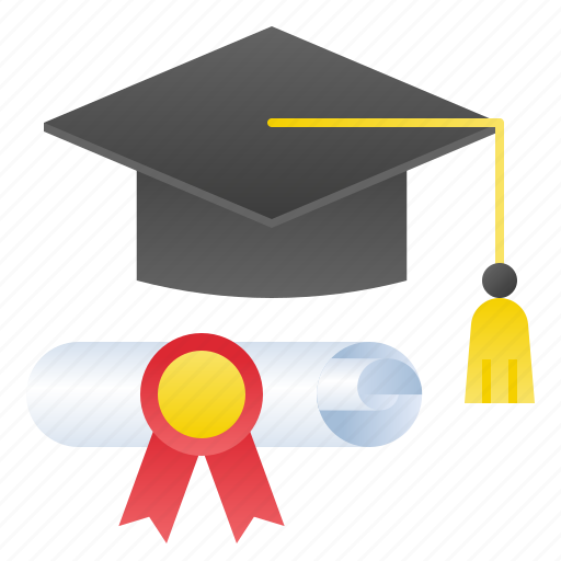 certificate, college, diploma, graduate, school icon