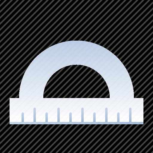 angle, measuring, protractor, school, semi circle icon