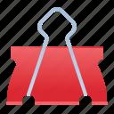 binder clip, binding, clip, foldover clip, paperclip icon