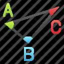 cos, math, mathematics, sin, tan, triangle, trigonometry icon