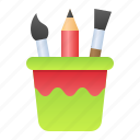 draw, drawing, paintbrush, pencil, stationery icon