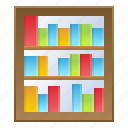 book, bookshelf, information, library, literature, school icon