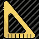 triangular ruler, ruler, scale, measure, measurement, tool, school