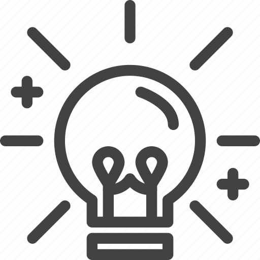 creative, idea, intelligent, lightbulb, smart icon