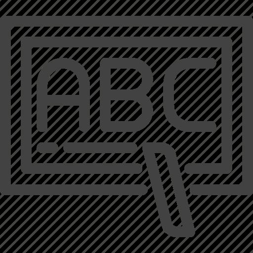 alphabet, education, learning, school, study icon