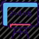 artboard, blackboard, chalkboard, presentation board, projector screen icon