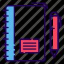 diary, drafting pad, notebook, notepad, writing tools icon