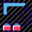 classroom, debate, lecture, orator, speech icon