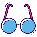eye glasses, eyewear, looking glasses, opticals, reading glasses, specs icon