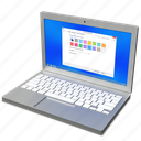 computer, laptop, pc, portatile icon