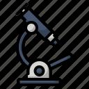 bacteria, seraching, education, research, laboratory, school, microscop icon